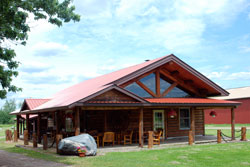 The Log Lodge at Palmquist Farm
