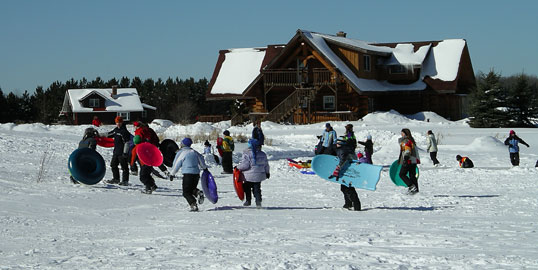 School groups love sledding at Palmquist Farm